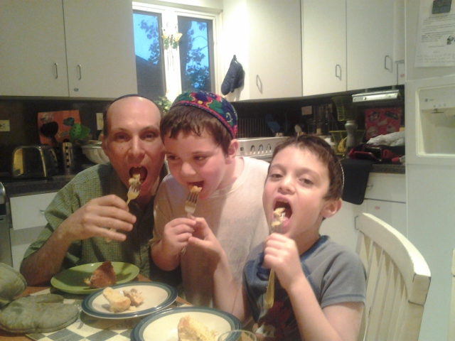 Fabulous Bernstein Baker Boys sample their fare.