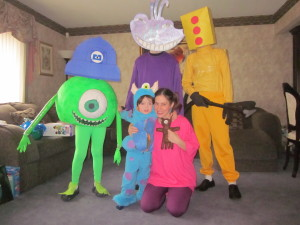 Disney's Monsters INC Purim 2013