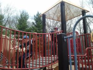 Still enjoying the playground at Ridgewood Duck Pond