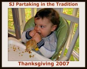 SJ enjoying Thanksgiving