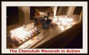Chanukah Menorah in action